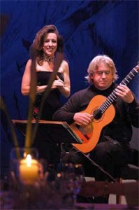 Scott Kritzer and Janet Chvatal performing in Germany, 2004
